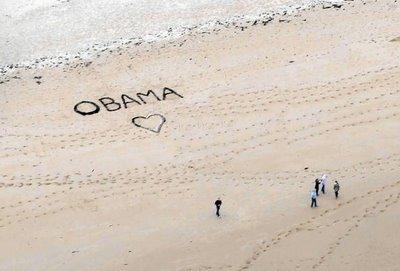 Obama+D+Day+sand